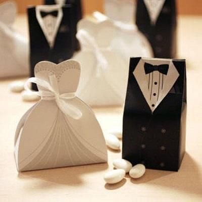 Μπομπονιέρα Νύφη και Γαμπρός Κλασική