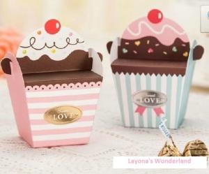 Μπομπονιέρα Υπέροχο Κουτάκι Παγωτού - Cupcake