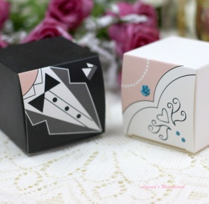 Μπομπονιέρα Γάμου Νύφη και Γαμπρός σε Κουτάκι Δώρου