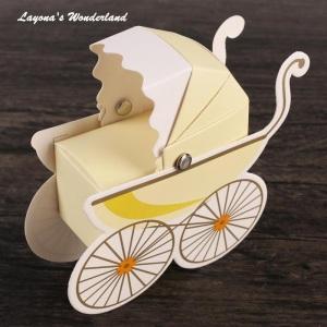 Μπομπονιέρα Καροτσάκι Μωρού Κίτρινο