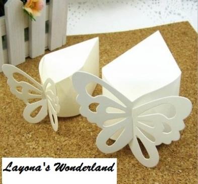 Μπομπονιέρα Κουτάκι Πεταλούδα Λευκό-2