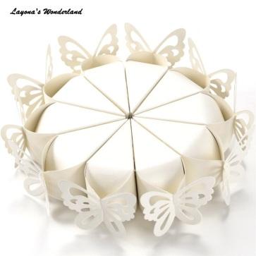 Μπομπονιέρα Κουτάκι Πεταλούδα Λευκό