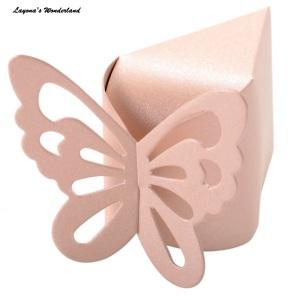 Μπομπονιέρα Κουτάκι Πεταλούδα Ροζ Τούρτα