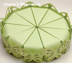 Μπομπονιέρα Κουτάκι Πεταλούδα Τούρτα Πράσινο