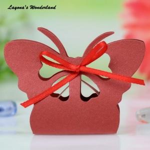 Μπομπονιέρα Πεταλούδα  Κόκκινο