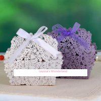 Μπομπονιέρα Γάμου - Βάπτισης Πεταλούδες & Λουλούδια