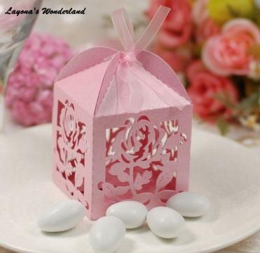 Μπομπονιέρα Τριαντάφυλλο λουλούδια