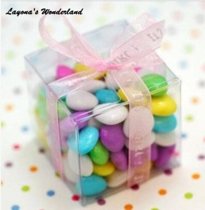 clear pvc candy box
