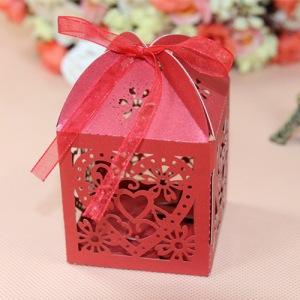 Μπομπονιέρα Καρδιά - Λουλούδια
