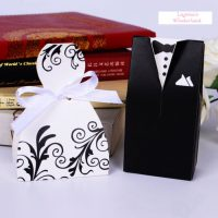 Μπομπονιέρα Γάμου Νύφη και Γαμπρός Μοντέρνο Ένδυμα ΚΩΔ: GR0115