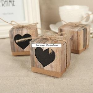 Μπομπονιέρα Γάμου Κραφτ Vintage Καρδιά