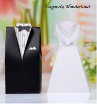Μπομπονιέρα Γάμου Νύφη & Γαμπρός Ρομαντικό Ένδυμα ΚΩΔ: GR0121