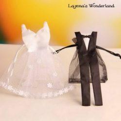 Μπομπονιέρα Γάμου Νύφη και Γαμπρός σε Πουγκι