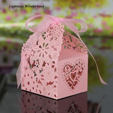 Μπομπονιέρα Ρομαντικό Κουτάκι Ροζ