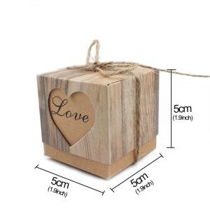 Μπομπονιέρα Καρδιά Κραφτ-Διαστάσεις