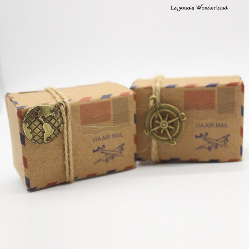 Μπομπονιέρα Κραφτ Vintage Φάκελος