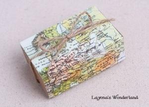 Μπομπονιέρα Κραφτ Vintage Χάρτης