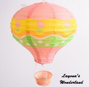 Διακοσμητικό Αερόστατο Χάρτινο