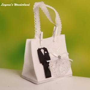 Μπομπονιέρα Γάμου Νύφη και Γαμπρός Τσάντα