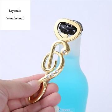 Μπομπονιέρα Μουσικό Κλειδί Σολ-Χρυσό-1