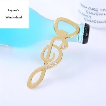 Μπομπονιέρα Μουσικό Κλειδί Σολ-Χρυσό-2