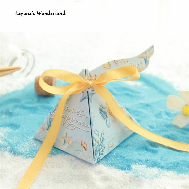 Μπομπονιέρα Ιππόκαμπος - κιτρινη κορδέλα μακρια