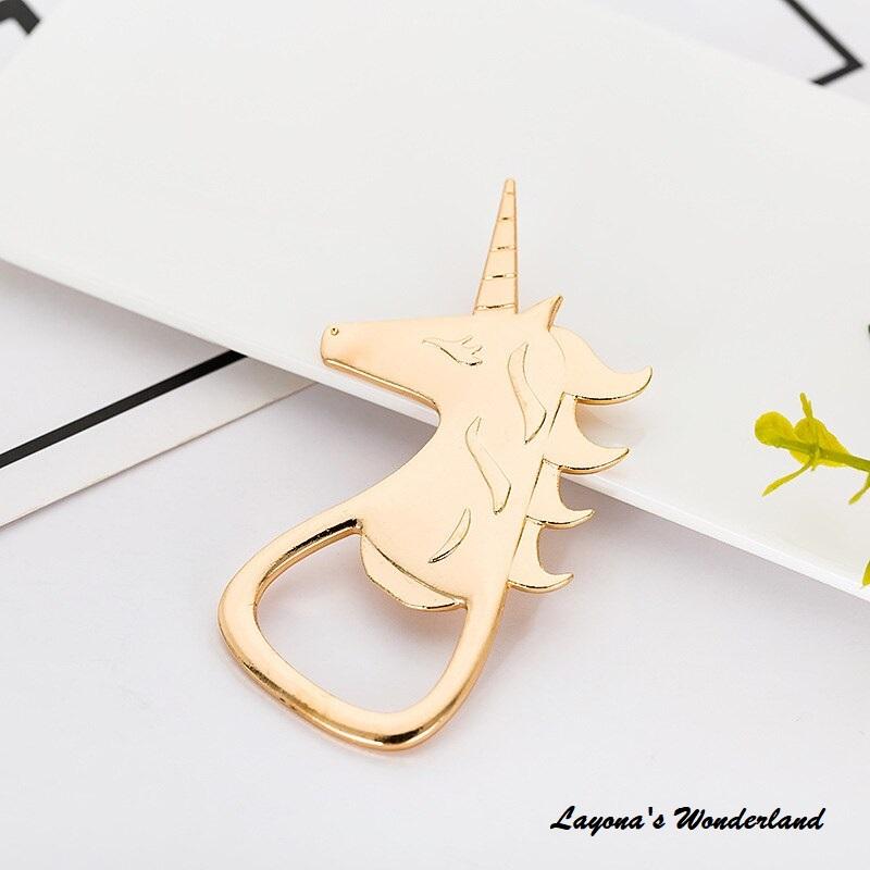 Μπομπονιέρα Μονόκερος Ανοιχτήρι Χρυσό