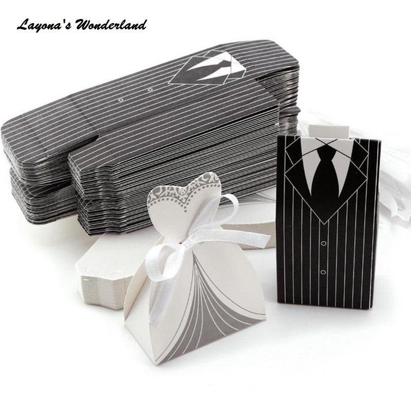 Μπομπονιέρα Γάμου Νύφη & Γαμπρός Κλασική