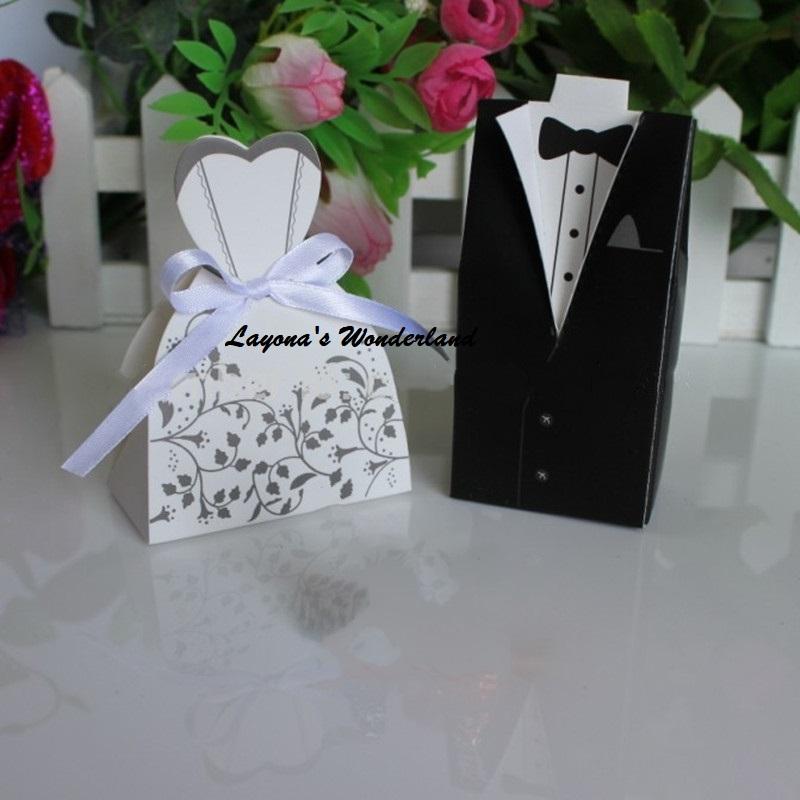 Μπομπονιέρα Γάμου Νύφη και Γαμπρός Επίσημο Ένδυμα